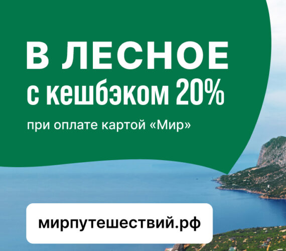 Кешбэк по карте мир 20%